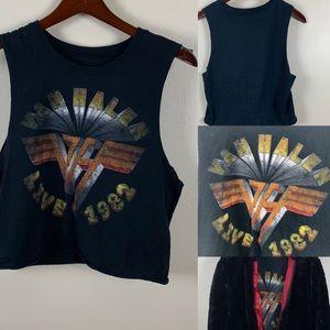 Retro Van Halen Cropped Band Tee  🎸